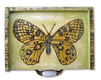Butterfly Box - Butterfly Storage - Butterfly Wood Burning