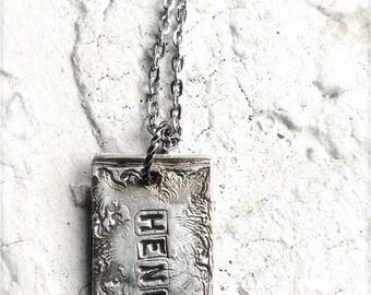 Rustic Custom Silver Name Tag (1)