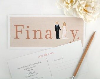 Wedding Save the Date FINALLY Custom Invitations (Set of 50)