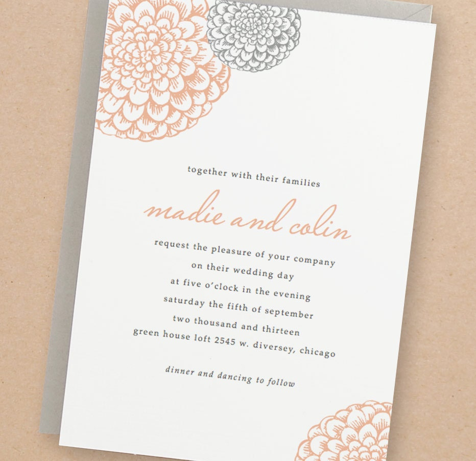 Printable Wedding Invitation Template INSTANT DOWNLOAD – Word Invitation Templates Free