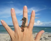 sea horse ring bronze - artformsinnature