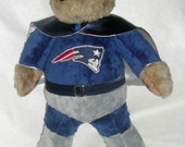 Patriots themed SuperHero teddy bear