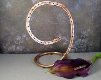 Copper Swirl Jewelry Organizer for Post Earrings