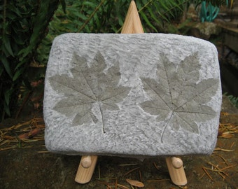 Real maple leaf impressions fossil plaque. 7in x 5 in. Shipping included.
