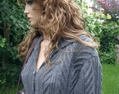 Hand-knitted long coat