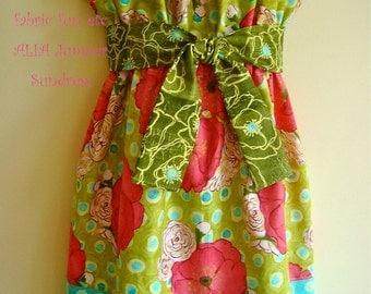 "P  PDF Pattern Easy to Sew Beginner Jumper Sundress ALIA Jumper Sundress  Free 18"" Doll Dress"