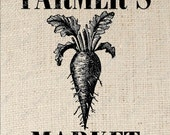 Beet Carrot Farmers Market Digital Download Iron on Transfer