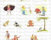 Dick and Jane Digital Download Collage Sheet