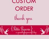 Custom order for Kameron