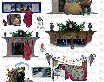 Twas the Night Before Christmas Digital Download Collage Sheet