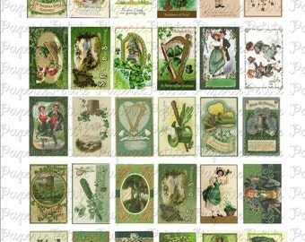 St. Patrick's Day Postcard Digital Download Collage Sheet