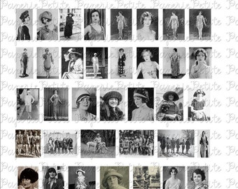 1920's Women Digital Download Collage Sheet