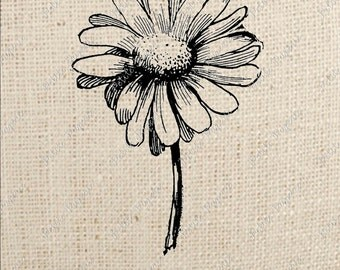 Daisy Flower Digital Download for Iron on Transfer