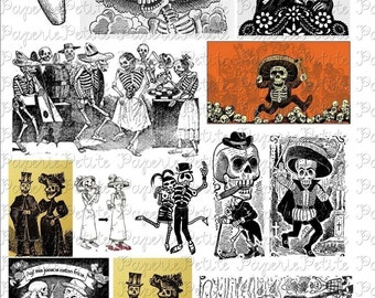Day of the Dead Digital Download Collage Sheet