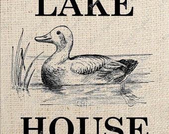 Duck Lake House Digital Download Iron on Transfer