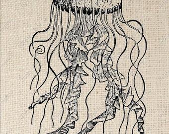 Jellyfish Digital Download Iron on Transfer