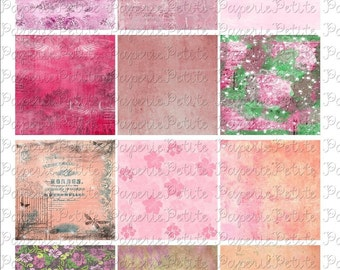 Pink Backgrounds Digital Download Collage Sheet 2.5  x 2.5 inch
