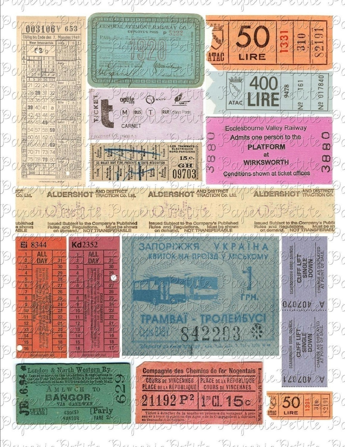 ticket sheets