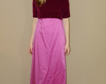 Vintage Purple and Pink Evening Dress