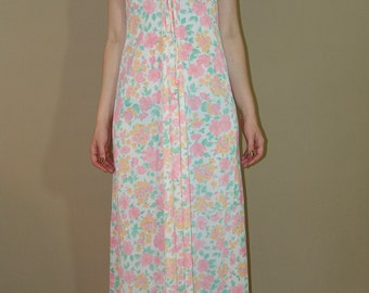 Vintage Morning DRESS Night Gown, Stern-Maid Lingerie, 1970s