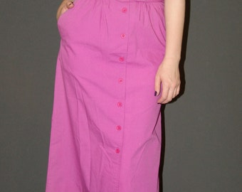 Vintage Button-Front  Skirt, 1980s