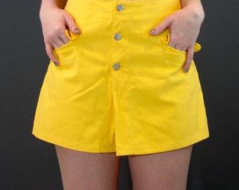 Vintage High Waisted Skirt-Shorts /Skort, Happy Legs, 1970s