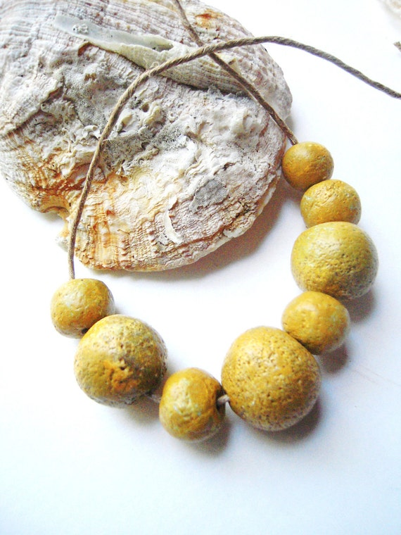 how to make rustic polymer clay beads