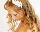 Grecian Goddess Headband Bridal headband - Greek Goddess silvery heaband - ready to ship