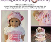"Baby or Girl Doll PDF Sewing Pattern - Easy with Mix and Match Options for 15"" and 18"" dolls - Boutique - by Scientific Seamstress"