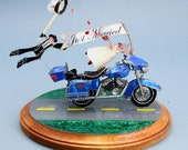 The Custom Motorcycle Wedding Cake Topper