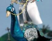Peacock Wedding Cake Topper (Custom)