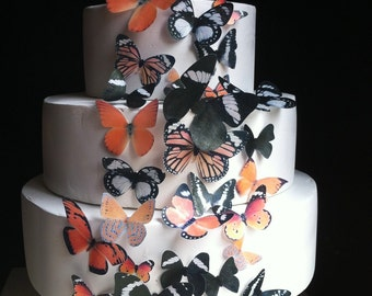 The Original EDIBLE BUTTERFLIES  - Halloween Assortment set of 30 - Cake & Cupcake toppers - Food Accessories