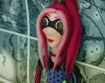 Zoe - Comic book inspired Ooak art doll