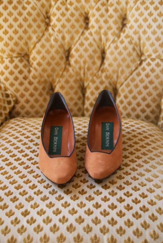 soft pumpkin suede pumps 7