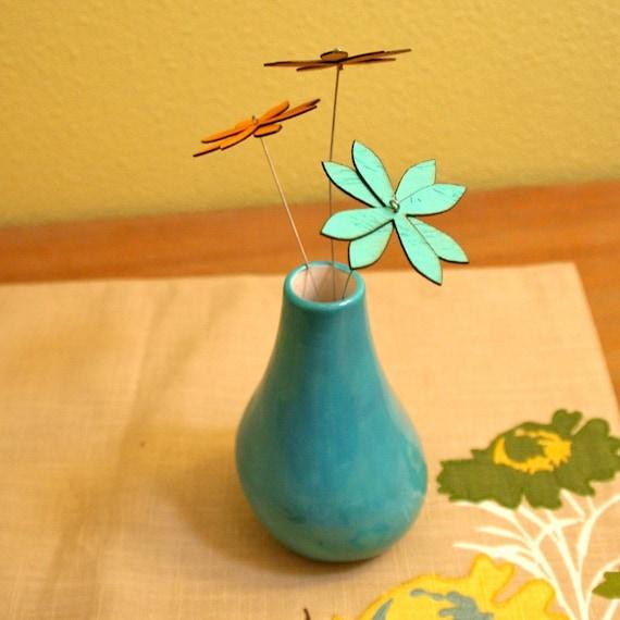 Turquoise Organic Vase - Ceramic Vase / Contemporary Functional Ceramics for Your Home