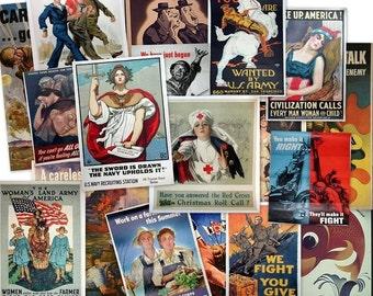 CD 4000 World War Propaganda POSTERS Images Art Advertisement Allies