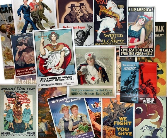 CD 4000 World War Propaganda POSTERS Images Art Advertisement Allies