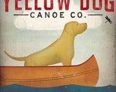YELLOW DOG Canoe Company Labrador Retriever Graphic Art Illustration Print Signed