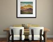 MOUNTAIN VIEW Smoky Mountains Green Mountains Framed Giclee Print SIGNED 20x20x1 frame 12x12 to 16x16 Print Size