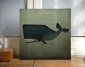 The Barnacle Whale Gallery Wrapped Canvas Wall Art Signed Ready-to-Hang Fowler Native Vermont Nursery Wall Art