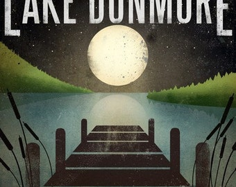 Made To Order LAKE DUNMORE Moonlight Giclee Print signed