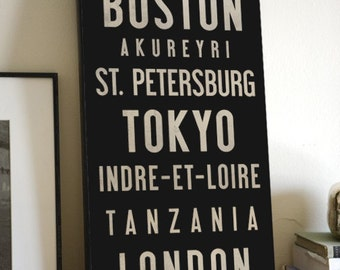 READY TO HANG Custom Made to Order -  Gallery Wrapped Typographic Wall Art - Stretched Canvas,  Sign Wedding Anniversary