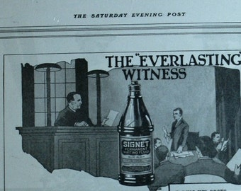 Signet Ink Advertisement 1919 Saturday Evening Post - Vintage Ad