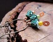 Unique Bead Dangles Bells. Handmade Filigree Bead Flowers for making Pendants, Necklaces, Earrings.