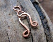 Copper Hook and Eye Clasp for Necklaces, Bracelets - Handmade Hook Clasp - Artisan Swirl Clasp / Infinity Clasp / Small necklace closure