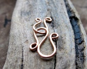 Artisan Spiral Clasp. Copper Swirl Clasp. Hand Forged Necklaces Clasp, Bracelets Clasp - unique Clasp. Copper Clasp. Handmade Clasp. Snake