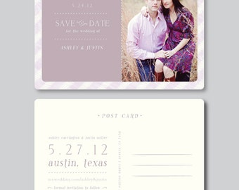 Sale! Save the Date Photo Card Design - Postcard Template - 5x7 Horizontal - Wedding Photography Photoshop Template