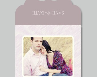 Modern Save the Date Photo Template - 5x5 Luxe Trifold Card - Wedding Photography Photoshop Template - Design By Bittersweet