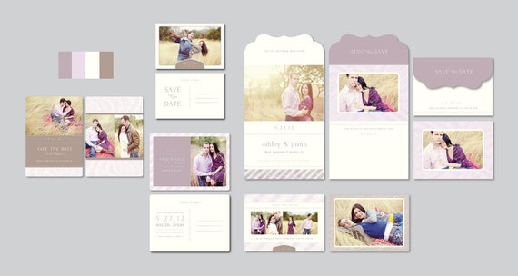 Save the Date Templates - Wedding Photographer Templates - Postcard Save the Dates - Wedding Stationery Templates - s0027