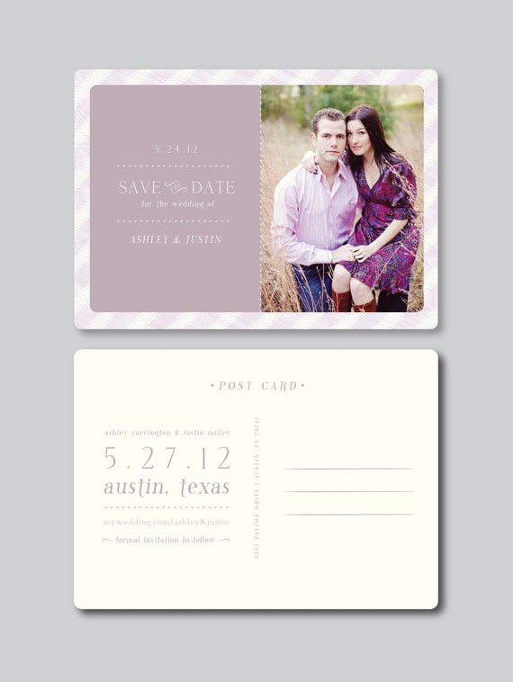 items similar to sale save the date photo card design postcard template 5x7 horizontal. Black Bedroom Furniture Sets. Home Design Ideas